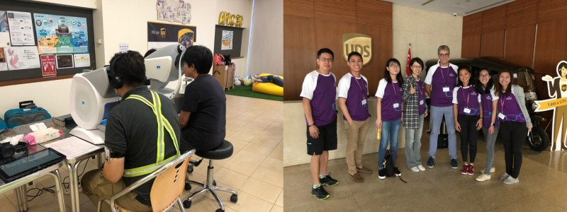 13th October, Eye Screening for UPS Drivers, Singapore
